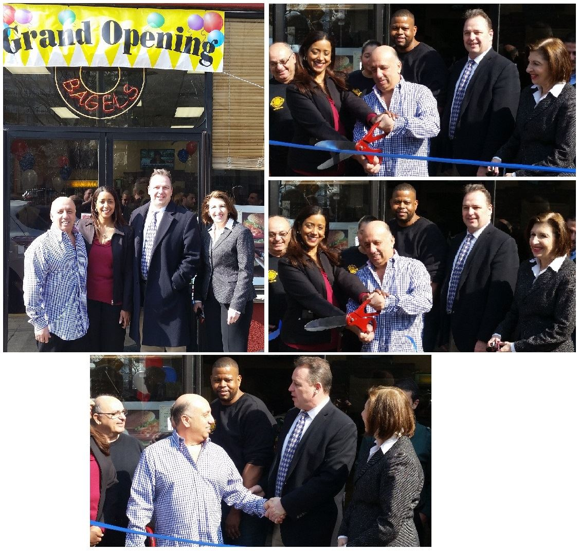 Mayor ribbon cutting ceremony at Bagels n More