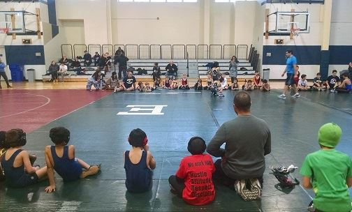 first home mach for Jr. Wrestling Team