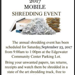 2017 shredding event