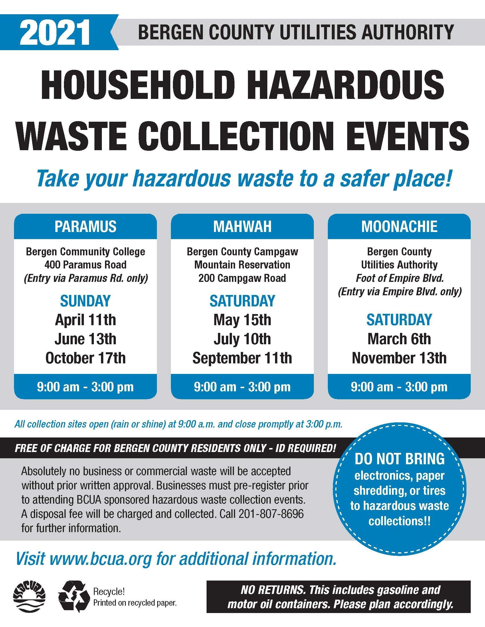 BCUA Waste Events